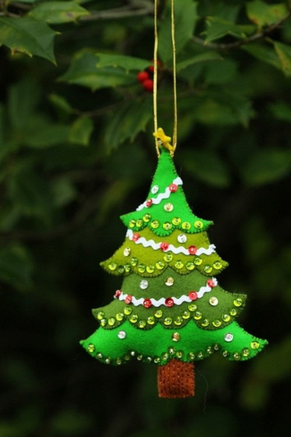 Christmas Tree ornaments to Make Inspirational Felt Christmas ornaments – Awesome Homemade Decoration for Of Amazing 45 Images Christmas Tree ornaments to Make