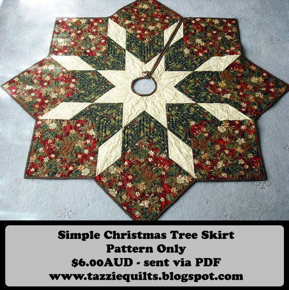 Christmas Tree Skirt Pattern Best Of Quilted Christmas Tree Skirt Pattern by Tazziequilts On Etsy Of Top 49 Images Christmas Tree Skirt Pattern