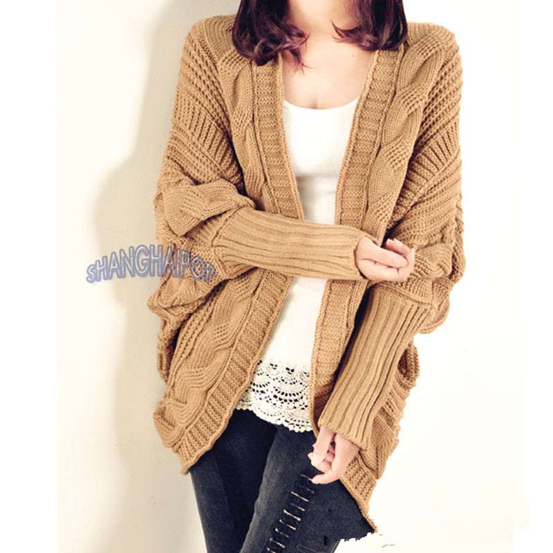 Chunky Cable Knit Sweater Awesome Women La S Cable Knit Cardigan Chunky Open Cape Batwing Of Attractive 42 Images Chunky Cable Knit Sweater