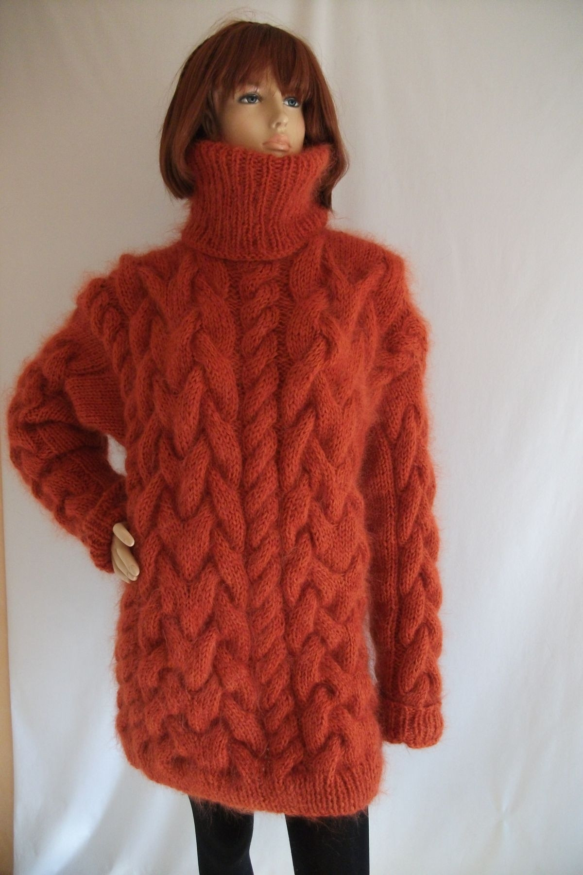 Chunky Cable Knit Sweater Elegant Thick Chunky Cable Knitted Mohair Merino Turtleneck Of Attractive 42 Images Chunky Cable Knit Sweater