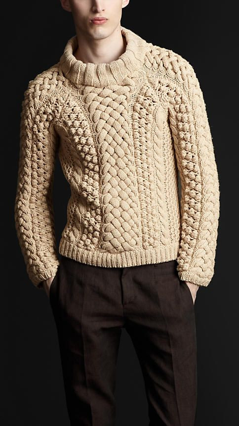 Chunky Cable Knit Sweater Fresh Men's Knitted Sweaters & Cardigans Burberry Of Attractive 42 Images Chunky Cable Knit Sweater