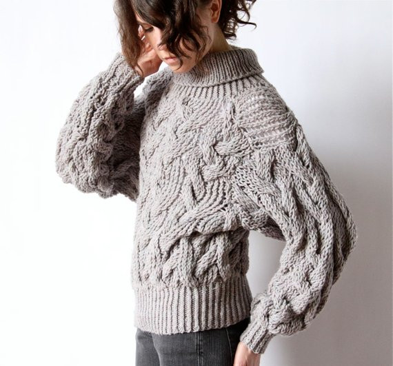 Chunky Cable Knit Sweater New Cable Knit Sweater 80s Avant Garde Grey by Factoryhandbook Of Attractive 42 Images Chunky Cable Knit Sweater