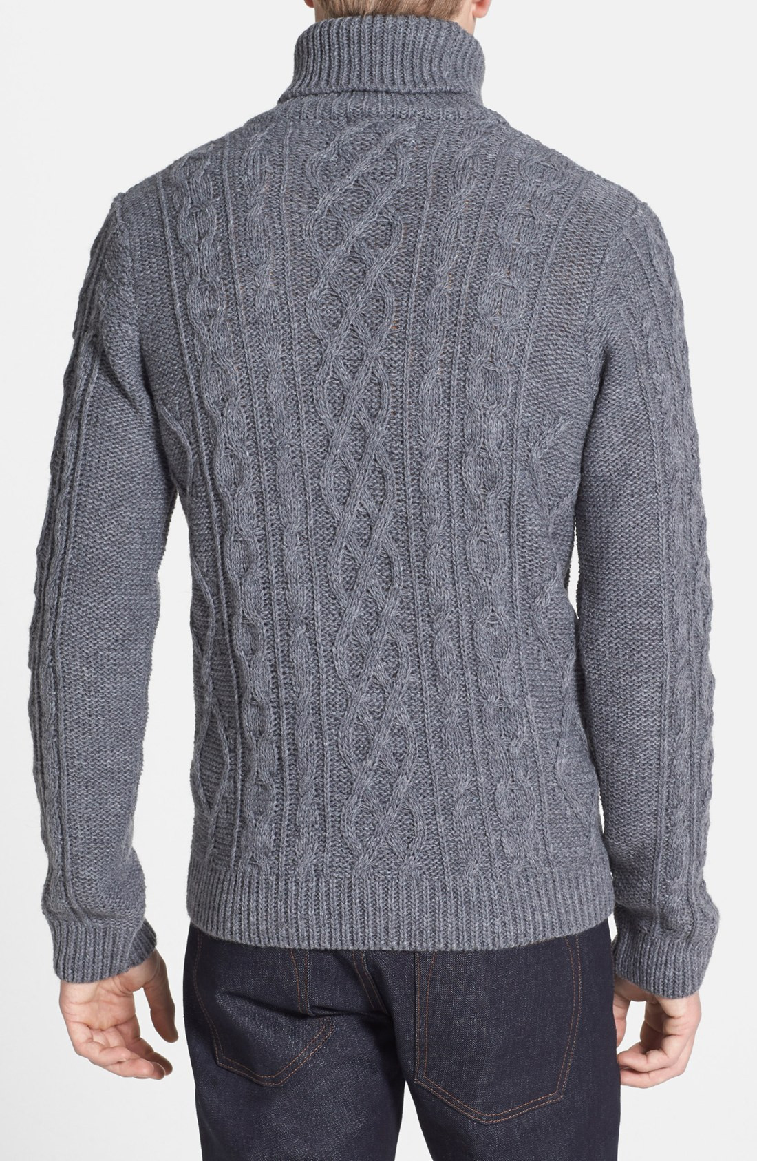 Chunky Cable Knit Sweater New Lyst topman Chunky Cable Knit Turtleneck Sweater In Gray Of Attractive 42 Images Chunky Cable Knit Sweater