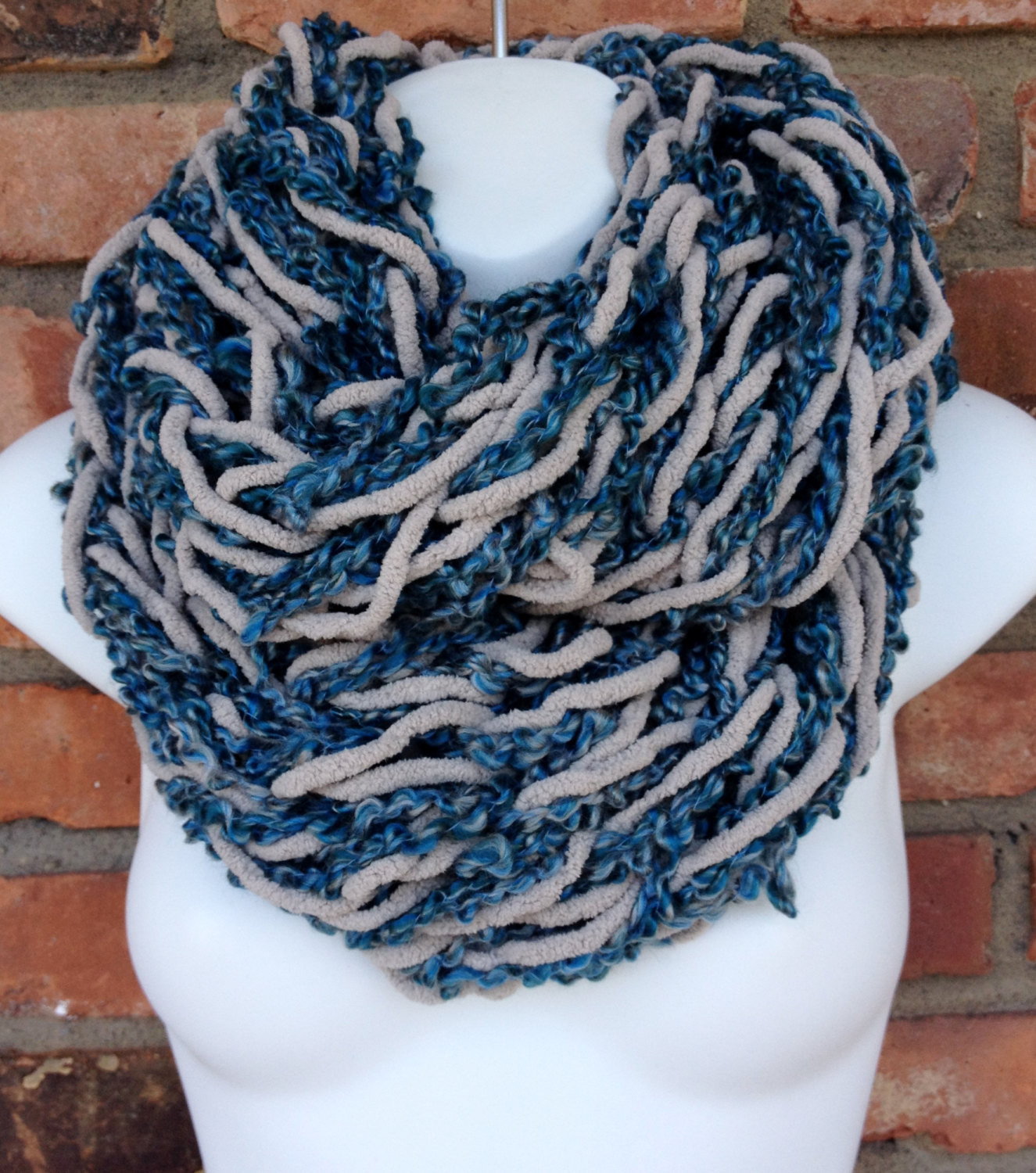 chunky arm knit chenille infinity scarf