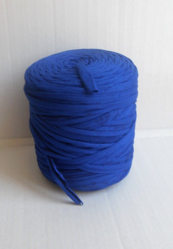 Chunky Cotton Yarn Beautiful T Shirt Cotton Yarn 40 Meters 43 Yd Royal Blue Chunky Of Chunky Cotton Yarn Beautiful Cherry Red Chunky Tape Yarn for Knitting Weaving and