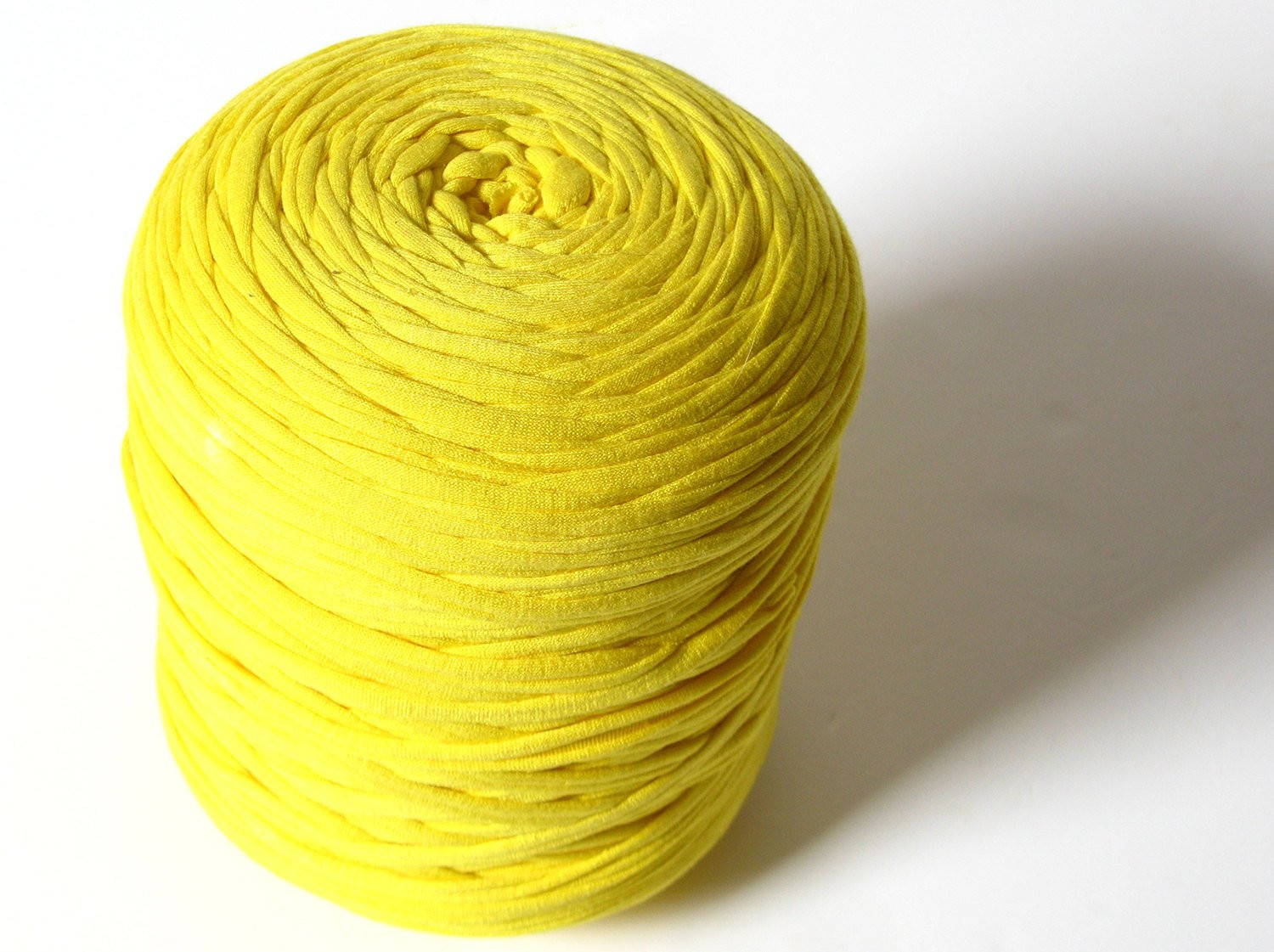 T shirt yarn Chunky bulky thick cotton yarn yellow
