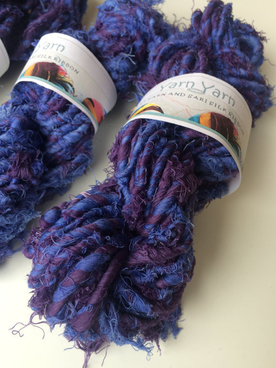 Super chunky recycled cotton yarn Orchid Knit Folksy