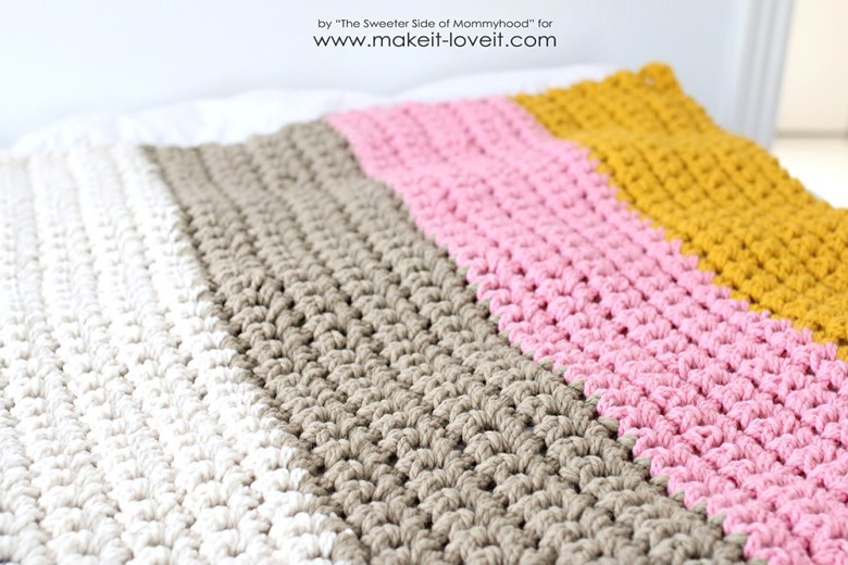 How to Crochet a Chunky Blanket …an affordable beginner