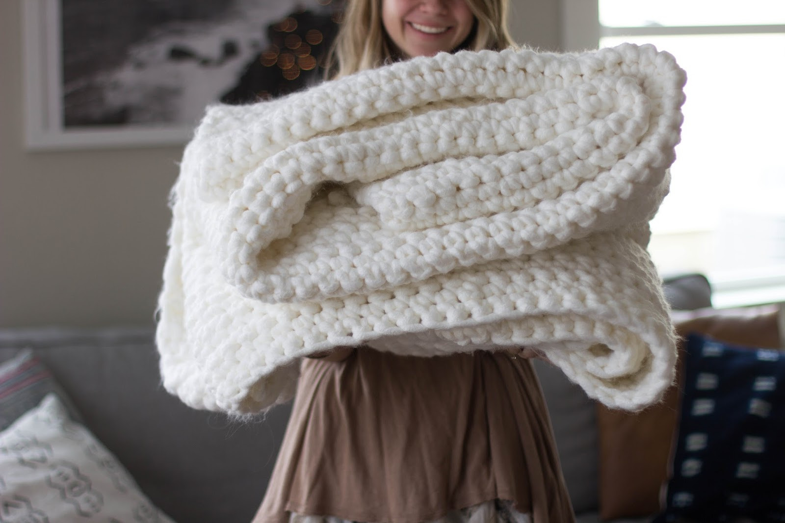 Chunky Crochet Blanket Lovely Always Rooney Learn to Crochet Chunky Blanket Of Awesome 44 Photos Chunky Crochet Blanket
