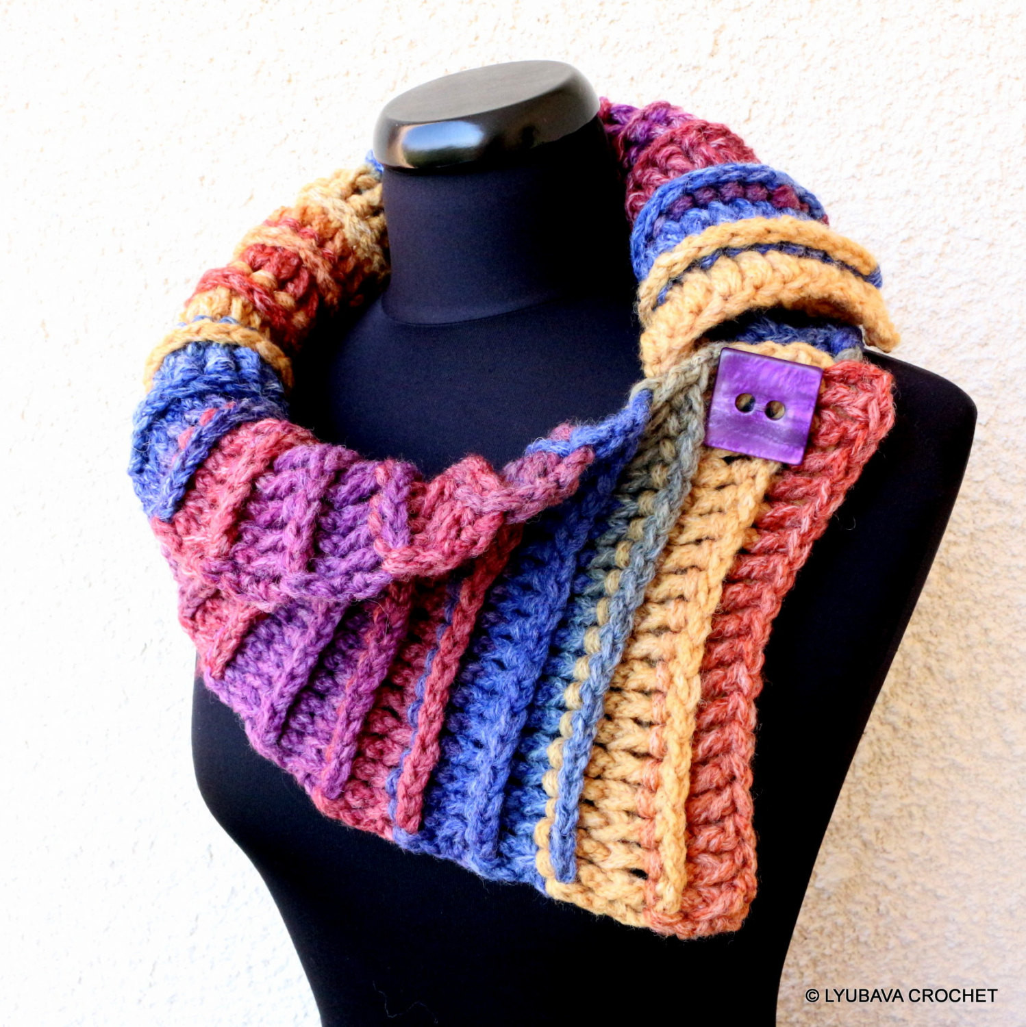 Chunky Crochet Scarf Elegant Crochet Scarf Pattern Multicolor Chunky Scarf Two buttons Easy Of New 44 Pics Chunky Crochet Scarf