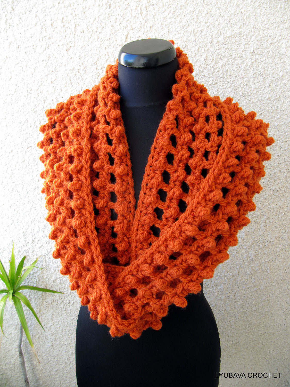 crochet pattern chunky scarf circle