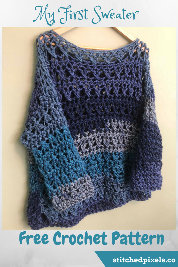 Chunky Crochet Sweater Pattern Free Fresh My First Sweater – Stitched Of Attractive 40 Images Chunky Crochet Sweater Pattern Free