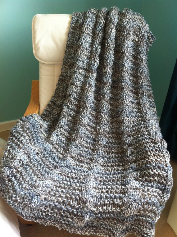 Chunky Knit Blanket Pattern Awesome Knitting Pattern Simple Chunky Cable Blanket by Of Delightful 41 Pictures Chunky Knit Blanket Pattern