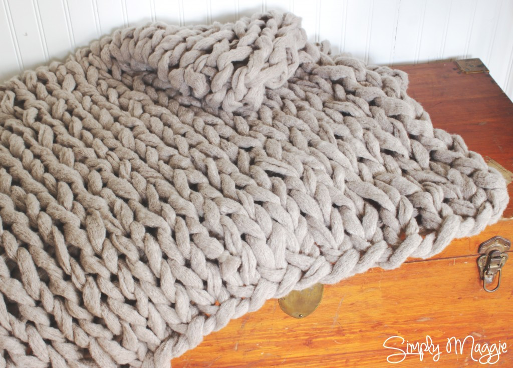 Chunky Knit Blanket Pattern Beautiful Arm Knit A Blanket In 45 Minutes by Simply Maggie Of Delightful 41 Pictures Chunky Knit Blanket Pattern