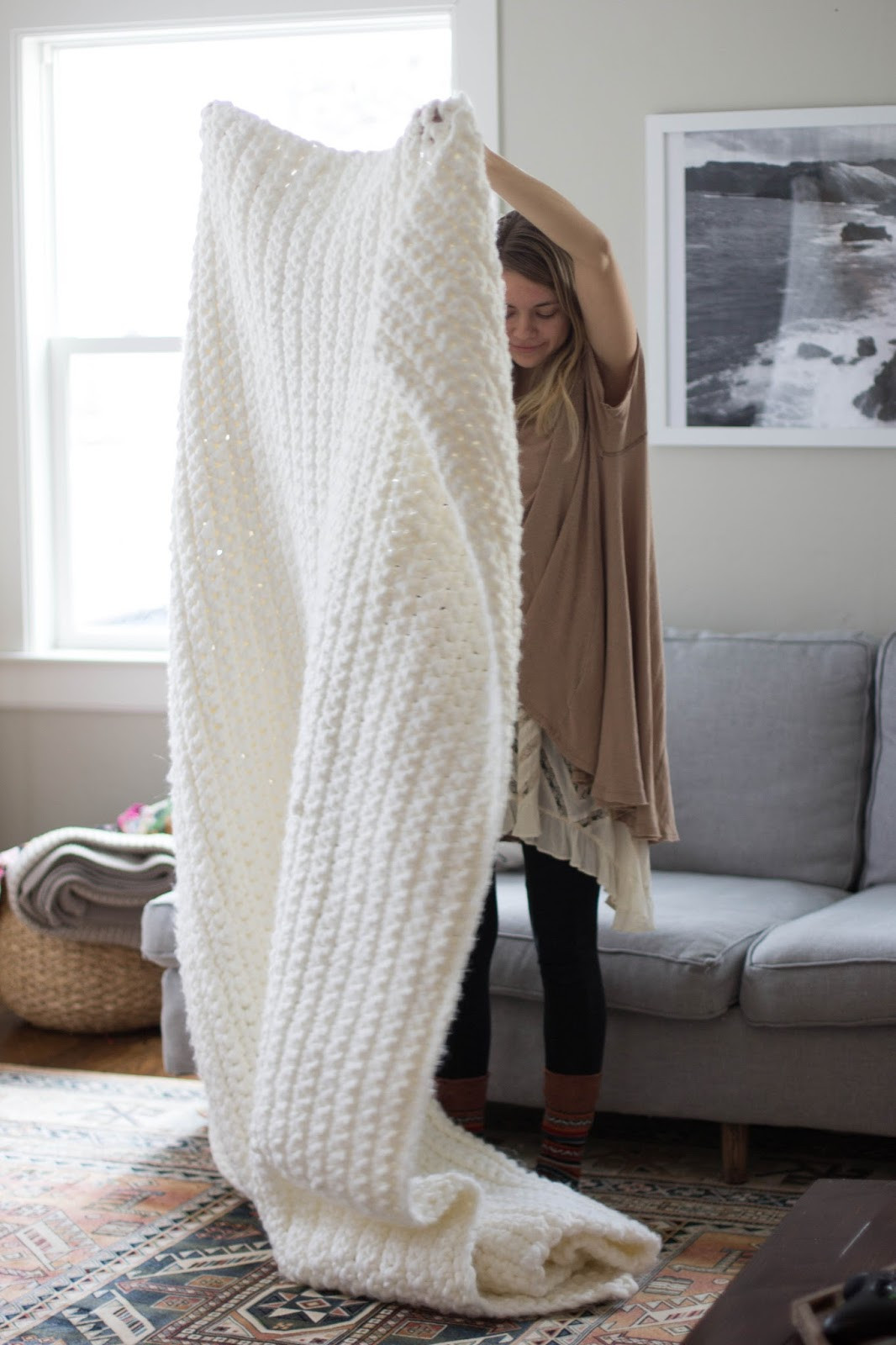 Chunky Knit Blanket Pattern Best Of [free Pattern] Outrageously Cozy Chunky Blanket to Snuggle Of Delightful 41 Pictures Chunky Knit Blanket Pattern