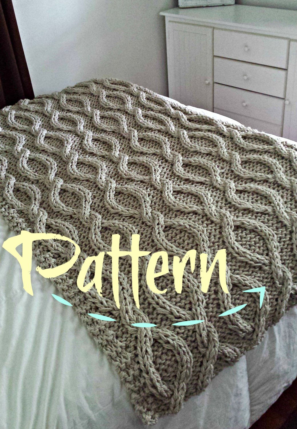 Chunky Knit Blanket Pattern Lovely Infinity Cable Knit Blanket Pattern by Ozarksmomma On Etsy Of Delightful 41 Pictures Chunky Knit Blanket Pattern