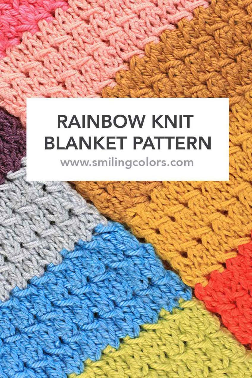 Chunky Knit Blanket Pattern Unique Rainbow Knit Blanket Pattern with An Video too Of Delightful 41 Pictures Chunky Knit Blanket Pattern