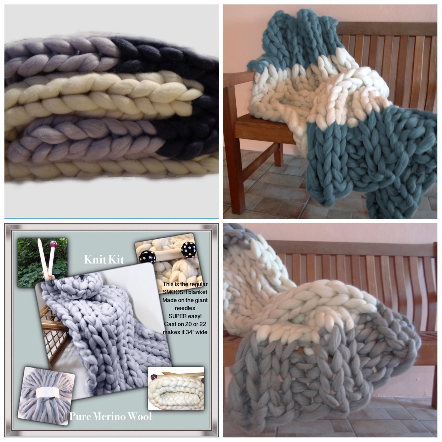 Chunky Knit Blanket Yarn Beautiful 2 Color Knit Kit New Chunky Blanket Needles 4 Chunky Of New 40 Pictures Chunky Knit Blanket Yarn