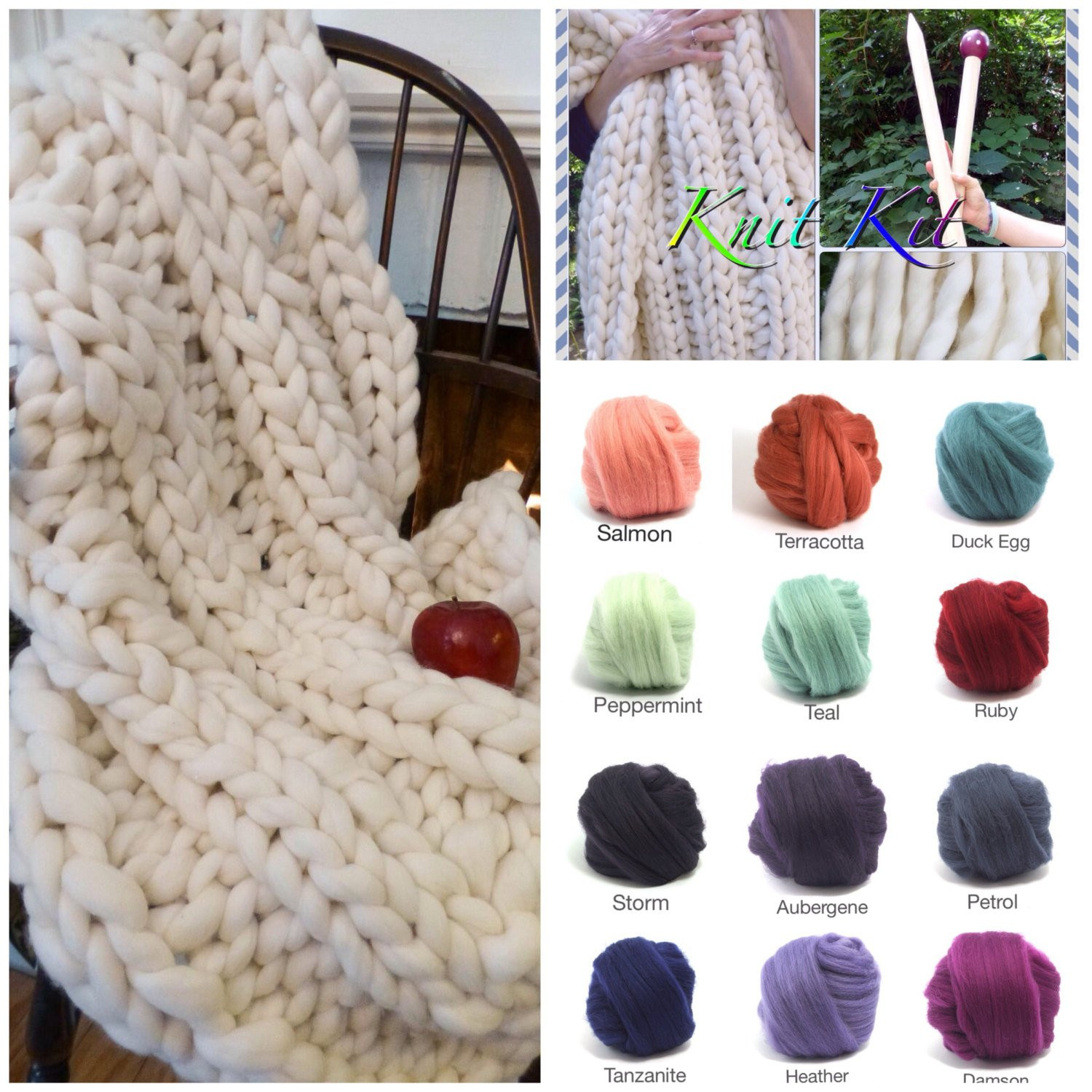 Chunky Knit Blanket Yarn Lovely Knit Kit Chunky Blanket 24 Needles4 Chunky Yarn Of New 40 Pictures Chunky Knit Blanket Yarn