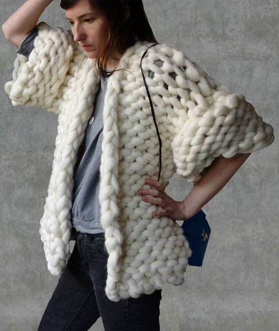 Chunky Knit Cardigan Pattern New Cardigan Giant Wool Big Yarn Sweater Chunky Knitted by Of Charming 40 Images Chunky Knit Cardigan Pattern