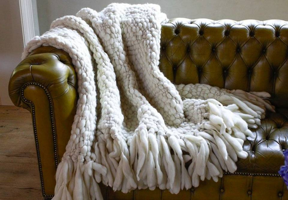 Chunky Knit Throw Clouds Throw Blanket