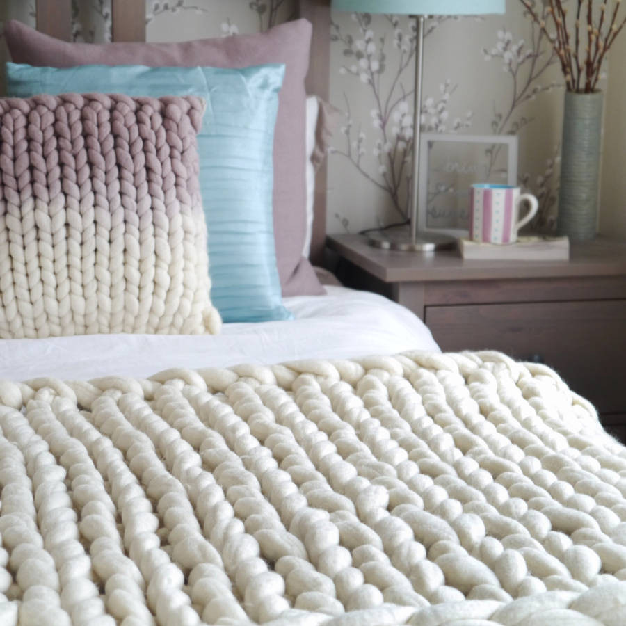Chunky Knit Throw Awesome Woola Be Super Chunky Hand Knitted Throw by Lauren aston Of Superb 50 Pics Chunky Knit Throw