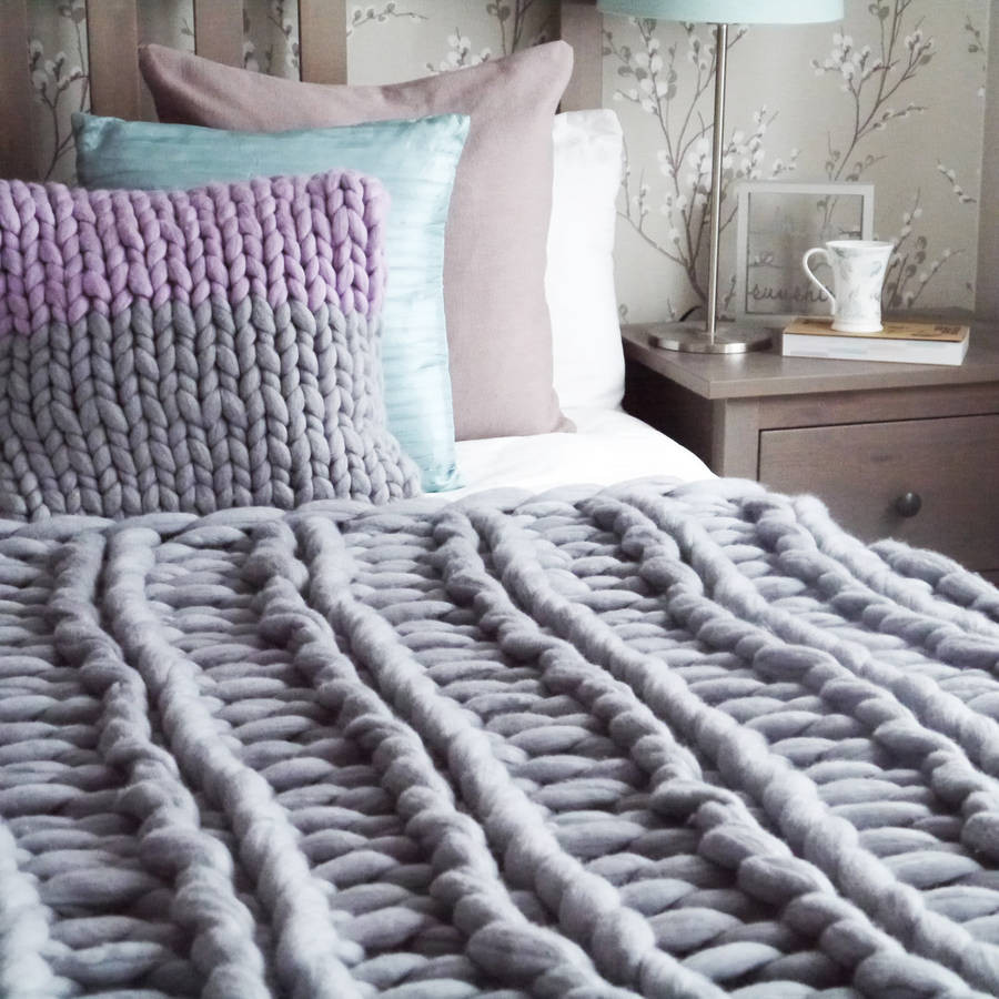 Chunky Knit Throw Awesome Yarns Be Chunky Hand Knitted Throw by Lauren aston Of Superb 50 Pics Chunky Knit Throw