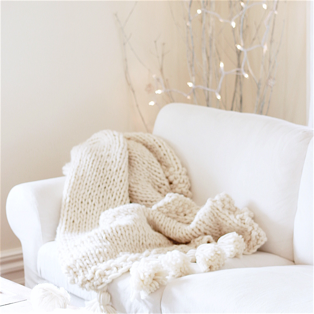 How to knit a Chunky Wool Blanket Free able