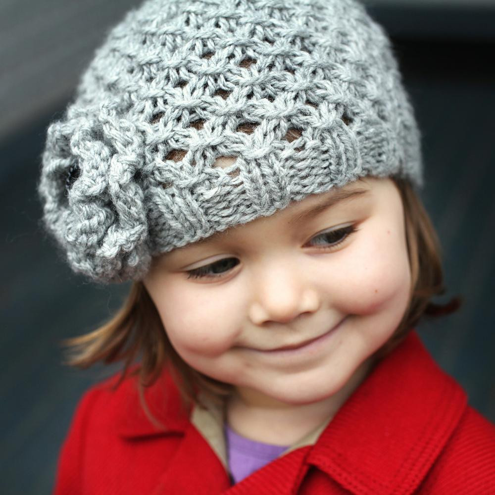 Chunky Knitting Patterns Best Of Mia Chunky Lace Hat with Flower Knitting Pattern by Julie Of Incredible 44 Pics Chunky Knitting Patterns