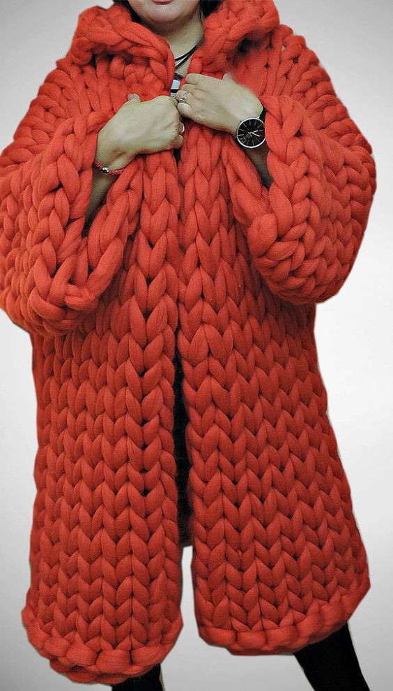 Chunky sweaters Chunky knits and Wool coats on Pinterest
