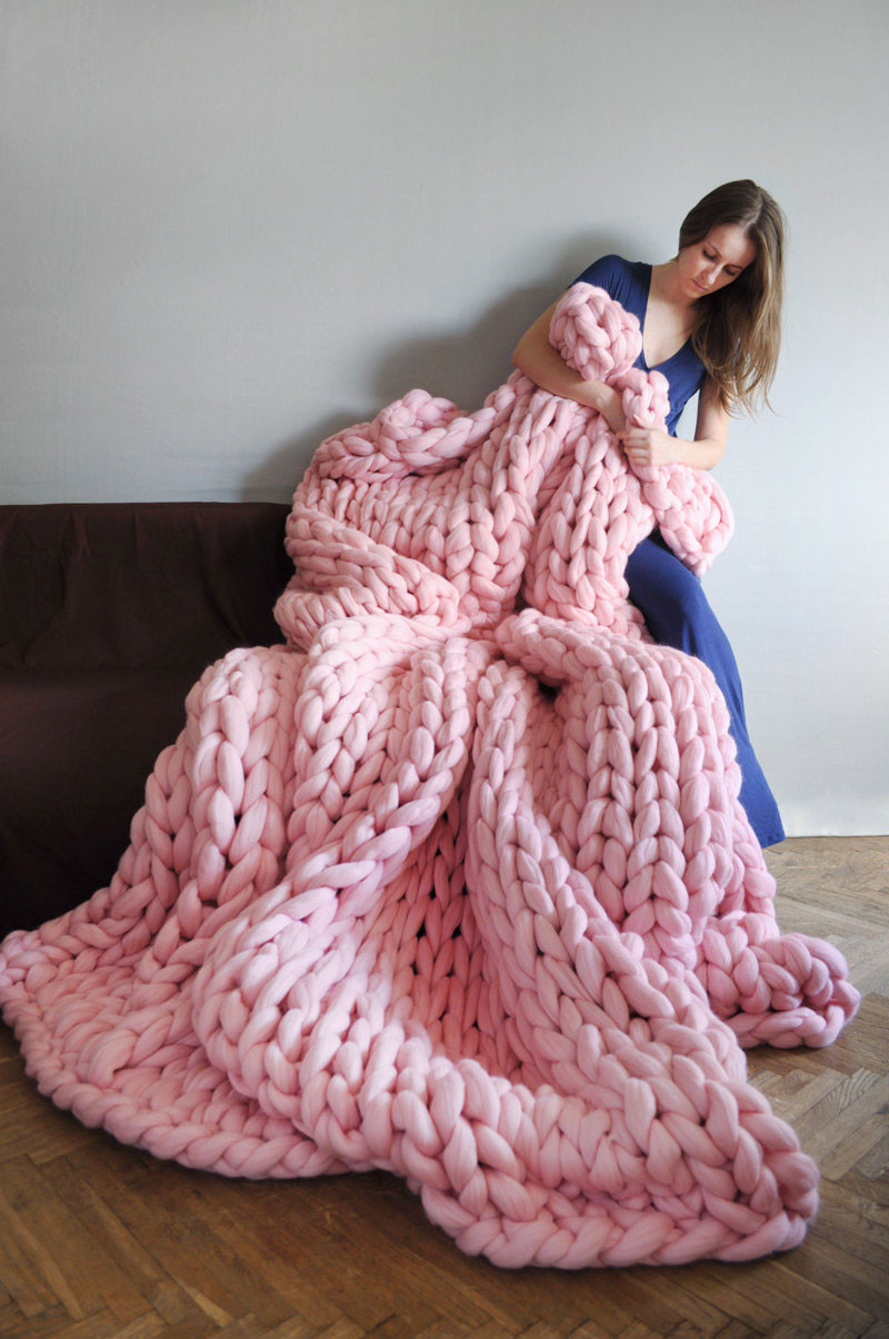 Chunky Wool Blanket Awesome Super Chunky Blankets by Anna Mo Sarah Le Donne Blog Of Incredible 43 Pictures Chunky Wool Blanket