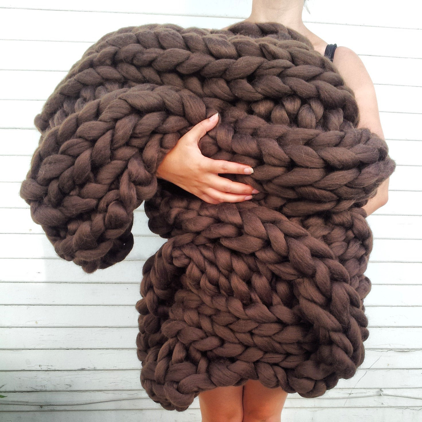 Chunky Wool Blanket Lovely Super Chunky Knit Merino Blanket 40 X 58 Deep Brown Chunky Of Incredible 43 Pictures Chunky Wool Blanket