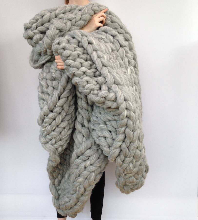 Chunky Wool New Giant Hand Knitted Super Chunky Blanket by Wool Couture Of Luxury 47 Pics Chunky Wool