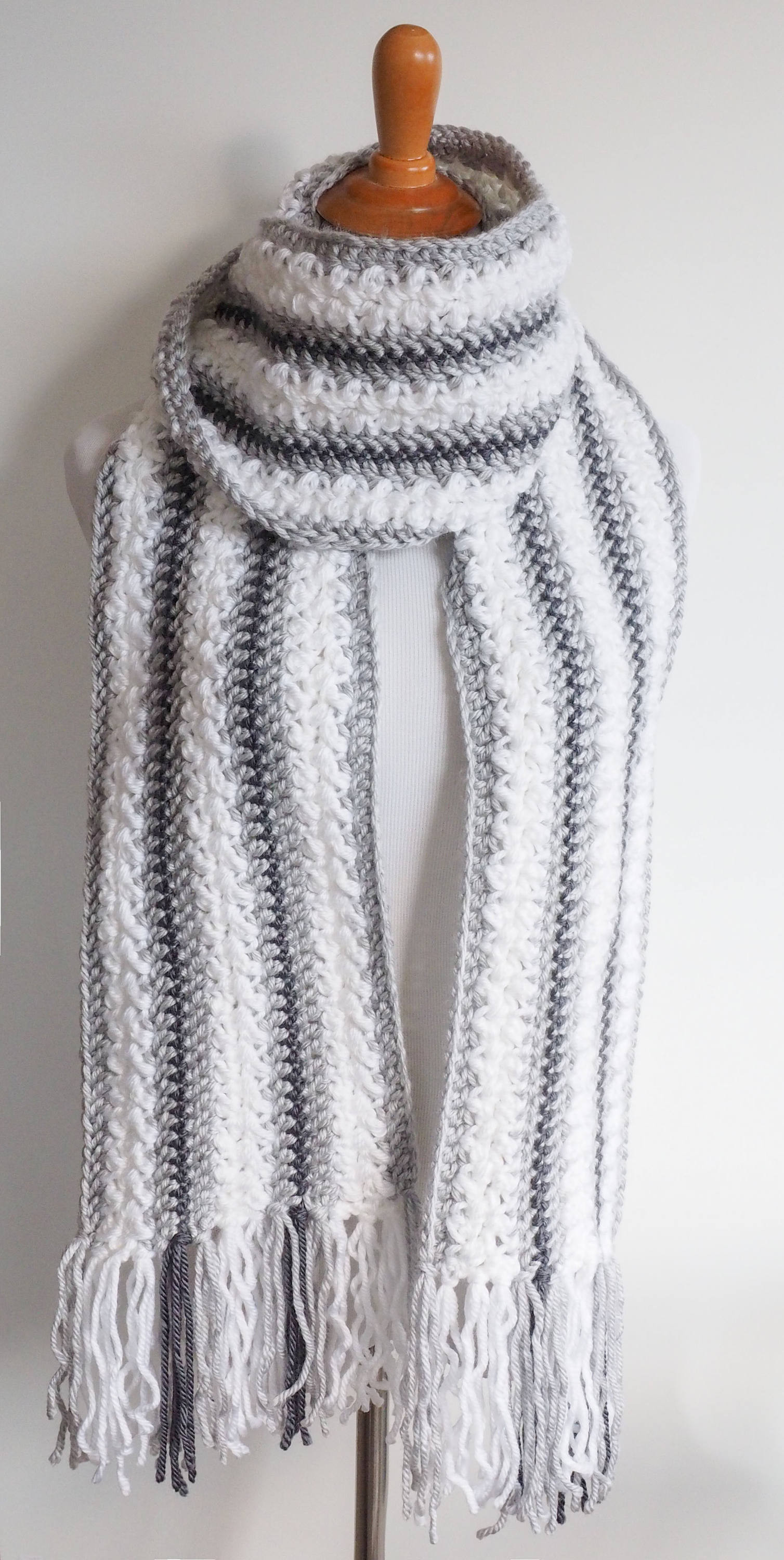 Chunky Yarn Crochet Patterns Inspirational Chunky Yarn Scarf Crochet Pattern Striped Scarf Pattern Of Amazing 46 Photos Chunky Yarn Crochet Patterns
