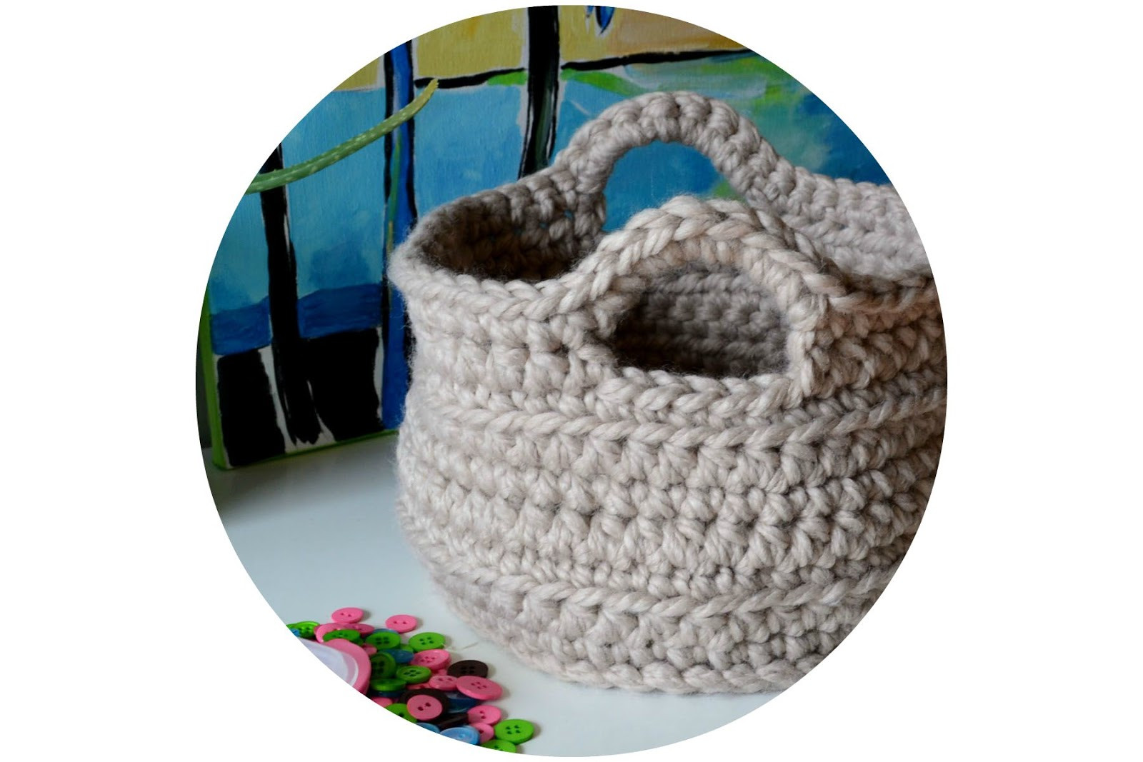 Chunky Yarn Patterns Lovely Crochet In Color Chunky Crocheted Basket Pattern Of Adorable 41 Photos Chunky Yarn Patterns