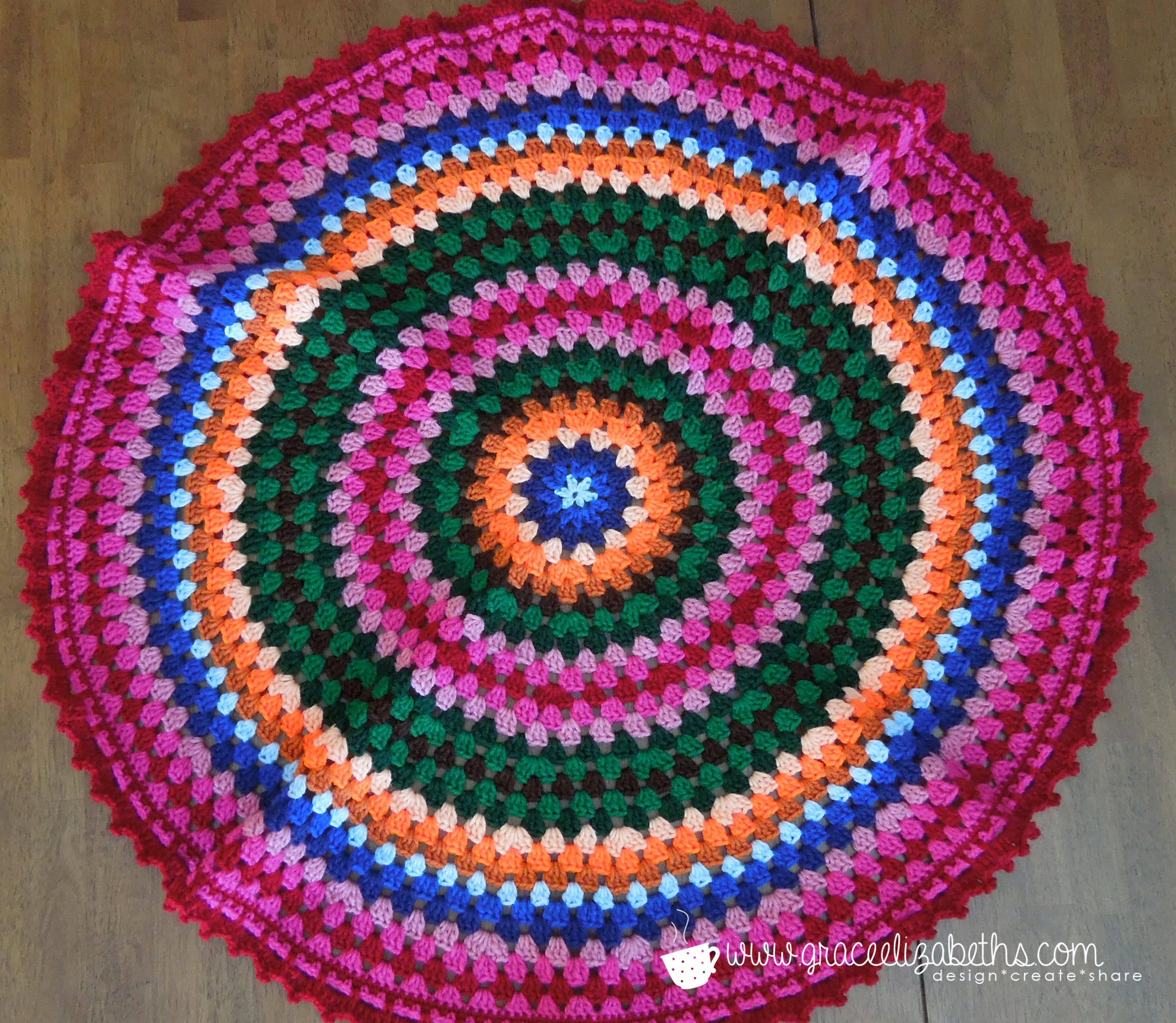 Crochet Circle Baby Blanket Grace Elizabeths