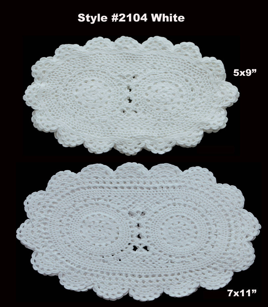 Cloth Lace Doilies Awesome 6pcs Crochet Lace Doily Oval White Cotton Handmade Set Of Of Top 48 Pics Cloth Lace Doilies
