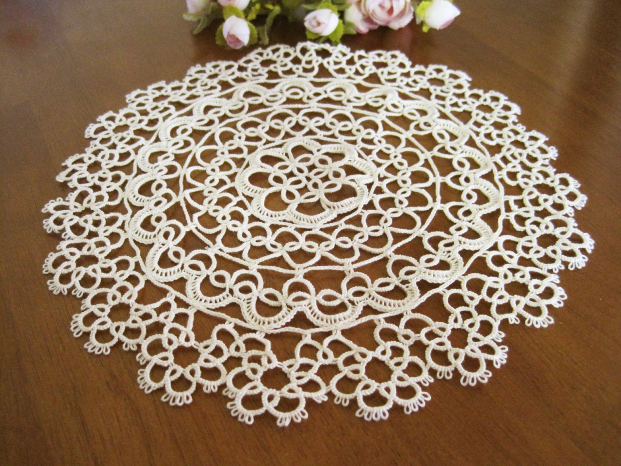 Cloth Lace Doilies Awesome Vintage Hand Cotton Tatting Lace Round Doily New Beige Of Top 48 Pics Cloth Lace Doilies