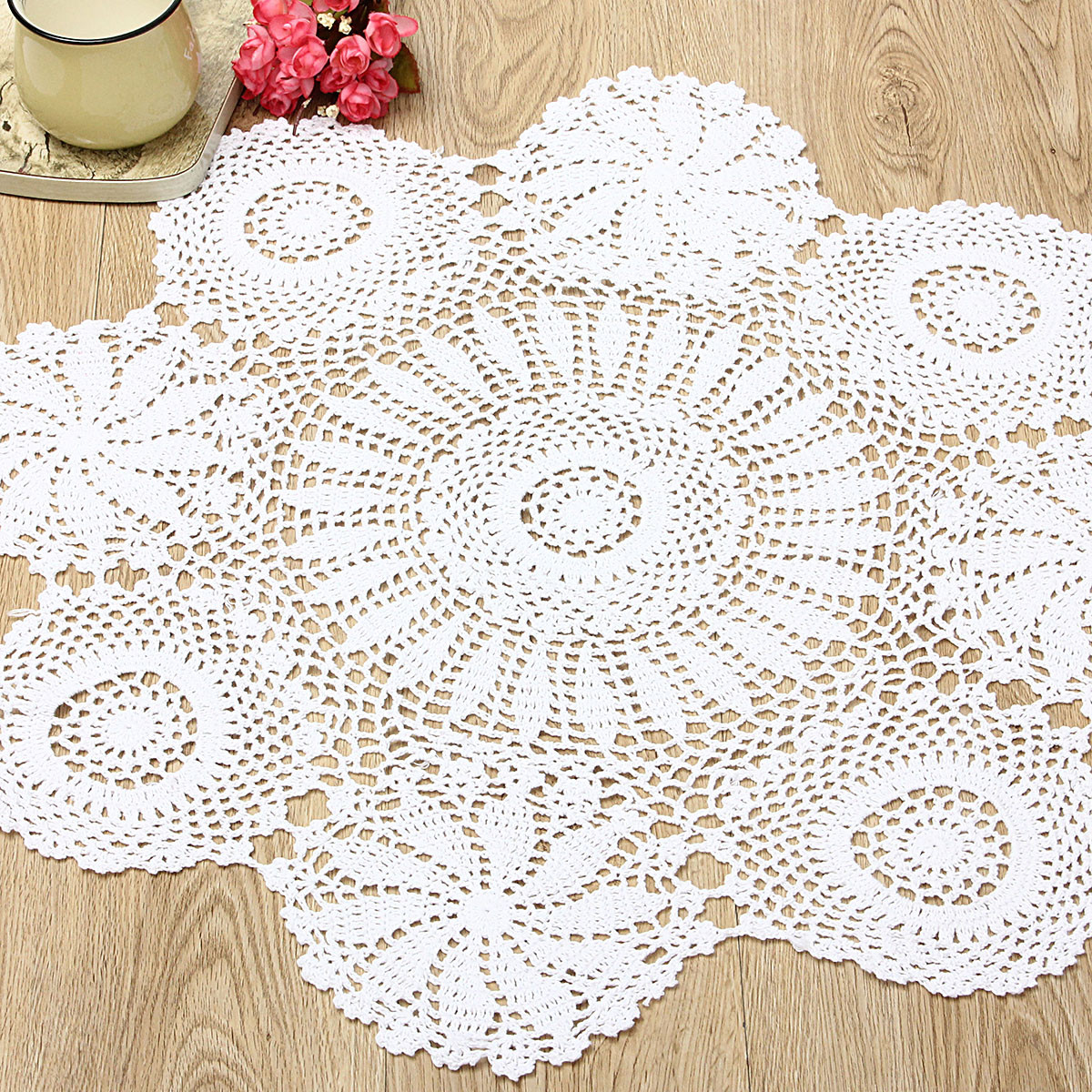 Cloth Lace Doilies Beautiful 28 Beige White Hand Crochet Cloth Cotton Yarn Round Lace Of Top 48 Pics Cloth Lace Doilies