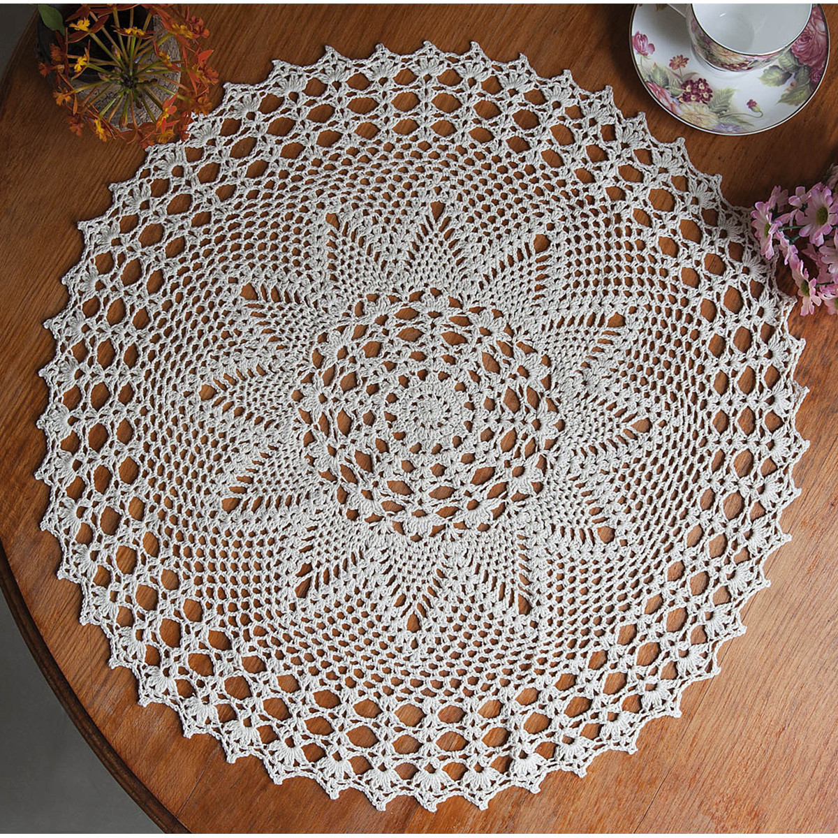 Cloth Lace Doilies Elegant 23 Round Hand Crochet Lace Doily Placemat Doilies Of Top 48 Pics Cloth Lace Doilies