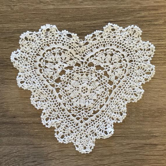 Cloth Lace Doilies Lovely 6 Inch Heart Shaped Cotton Crochet Lace Doily Handmade Of Top 48 Pics Cloth Lace Doilies