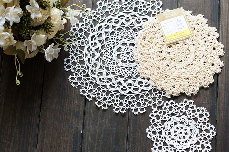 cotton tatting lace doilies and runners [0222] Tea