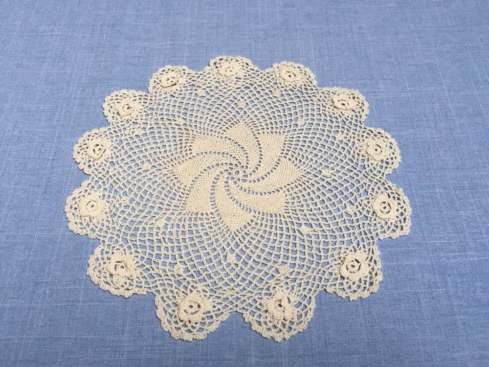"Cloth Lace Doilies Luxury 8"" Inch Round Cotton Crochet Lace Doily Handmade Ecru 12 Of Top 48 Pics Cloth Lace Doilies"