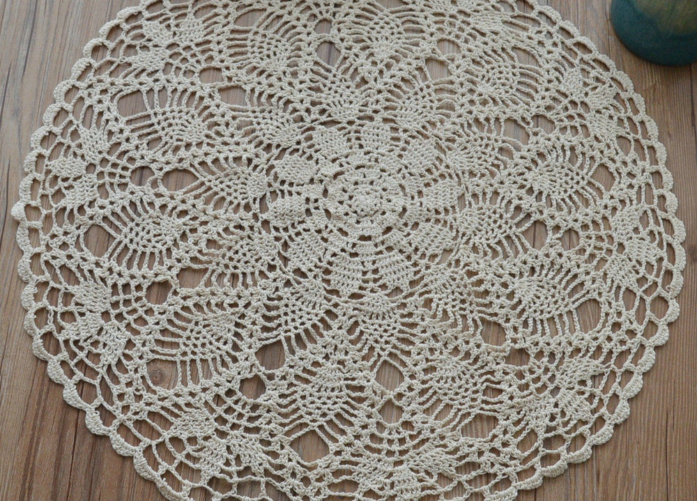 Cloth Lace Doilies New 23 Graceful Hand Lace Crochet Round Pineapple Doily Of Top 48 Pics Cloth Lace Doilies