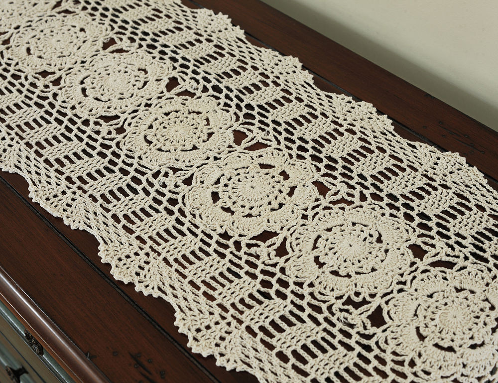 Cloth Lace Doilies New Oblong 12×70 Beige Handmade Cotton Crochet Lace Of Top 48 Pics Cloth Lace Doilies