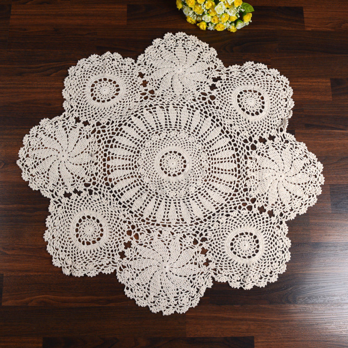 Cloth Lace Doilies Unique Hand Crocheted Cotton Yarn Round Lace Doily Mat Vintage Of Top 48 Pics Cloth Lace Doilies