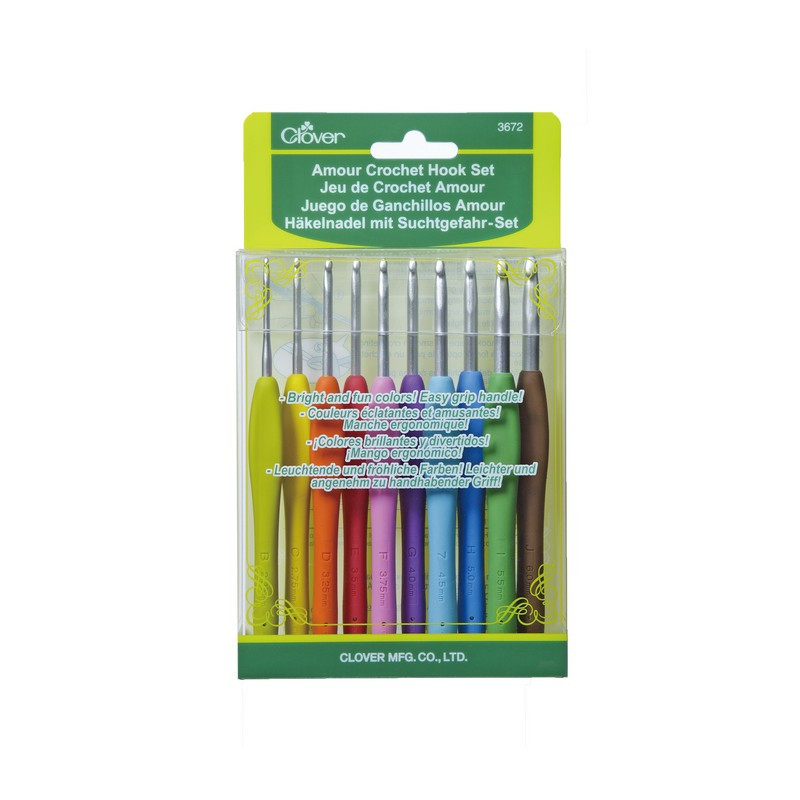 Clover Amour Crochet Hook Set of 9 Janie Crow