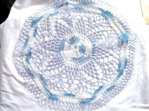 Colored Doilies Awesome Medium Blue and White Variegated Colored Hand Crocheted Of Gorgeous 42 Pics Colored Doilies