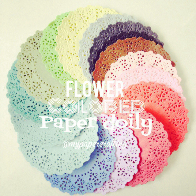 Colored Doilies Beautiful Flower Doily In Multi Colors Of Gorgeous 42 Pics Colored Doilies