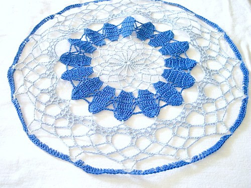 Colored Doilies Lovely Dark Blue Light Blue Colored Hand Crocheted Round Doily 13 Of Gorgeous 42 Pics Colored Doilies